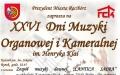 """XXVI Dni Muzyki Organowej i Kameralnej  im. Henryka Klai Zespól muzyki Dawnej """"CANTICA SACRA'', STANISŁAW PIELCZYK"""