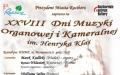 XXVIII Dni Muzyki Organowej im. H. Klai Koncert organowo-kameralny- Adam Klarecki (organy), Karol Brańka (skrzypce)