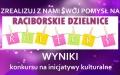 """Wyniki konkursu """"Raciborskie Dzielnice Kultury"""""""
