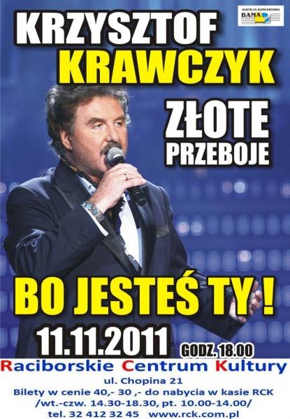 Koncert Krzysztofa Krawczyka - RCK - Raciborskie Centrum Kultury