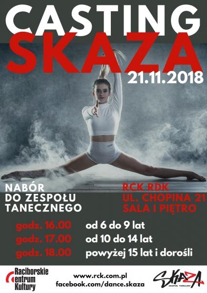 Casting SKAZA 2018 plakat