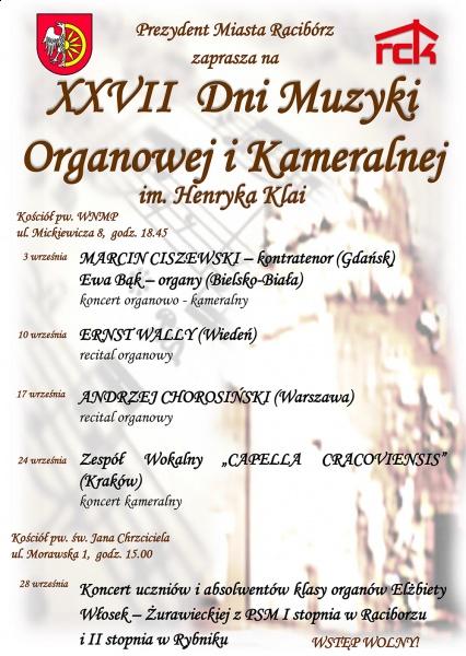 Dni Muzyki Organowej i Kameralnej już wkrótce